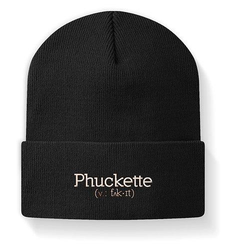 Phuckette Cuffed Beanie