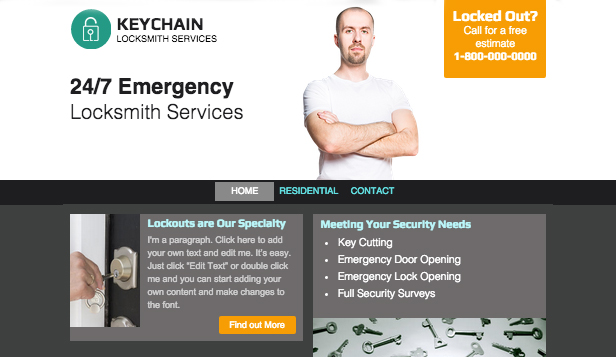 Business website templates wix 10 business website templates locksmith accmission Choice Image