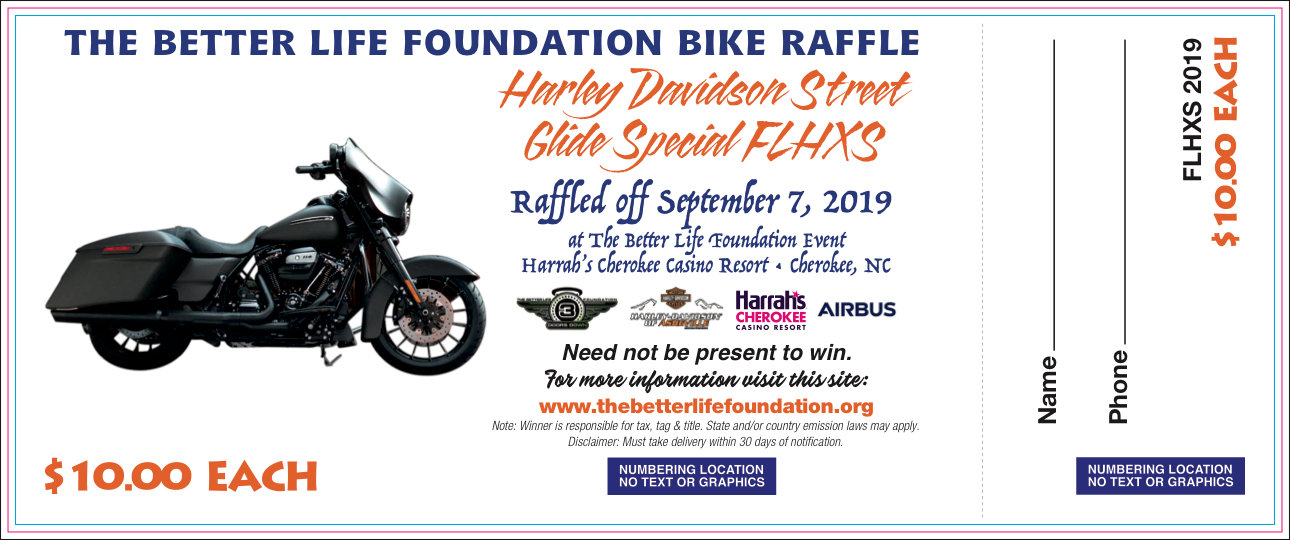 Harley Raffle Ticket