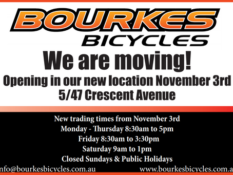 Shop shut from Friday 30th to November 3rd for the move.