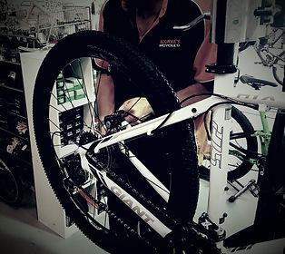 Working on a bike