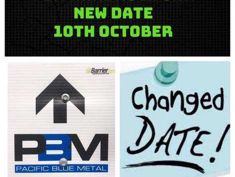 DATE CHANGE FOR THE PBM!! 10th October