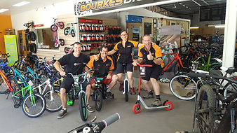 The team at Bourkes Bicycles