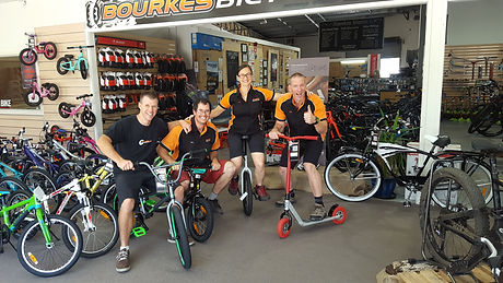 The Bourkes Bicycles team