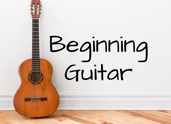 Beginning Guitar with Ethan- Virtual & In Person