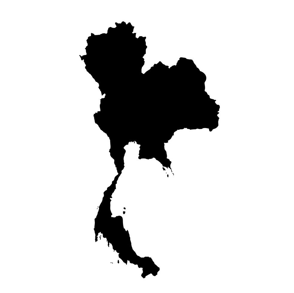 map-thailand-isolated-black-vector-21190
