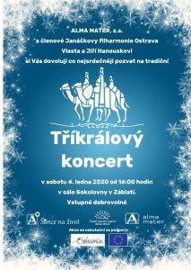 Alma Mater organizovala již podruhé Tříkrálový koncert – sobota 4.1.2020 v Soklovně Záblatí