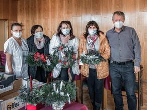 Do Bohumínské nemocnice jsme darovali 40 adventních věnců