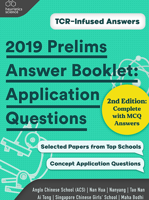 (Hardcopy) 2019 Prelims Answer Booklet: Application Questions (2nd Edt)
