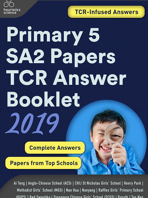 (Softcopy) Primary 5 SA2 Papers TCR Answer Booklet