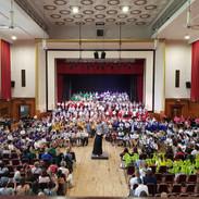 Massed junior choir