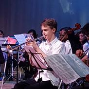 Trumpeter performing at Leyton Sixth Form
