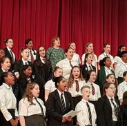 Massed senior choir