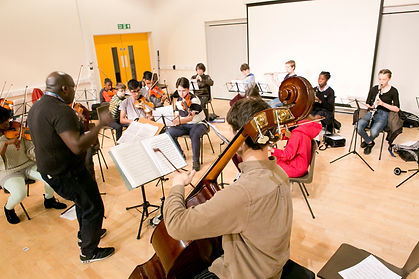 Waltham Forest Youth Orchesta rehearsal