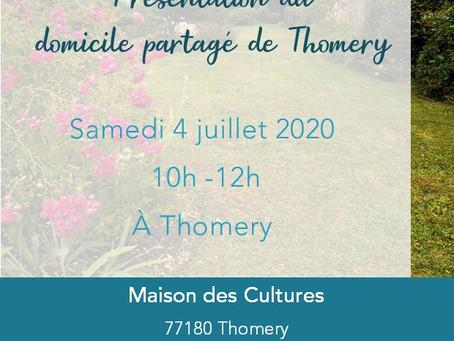4/07 : venez découvrir le domicile partagé de Thomery!