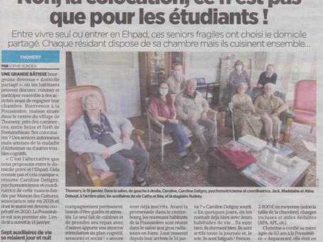 De bonnes nouvelles dans le journal Le Parisien