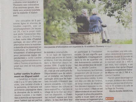 """Une piste pour """"mieux vieillir en Seine-et-Marne"""", Une de la République cette semaine!"""