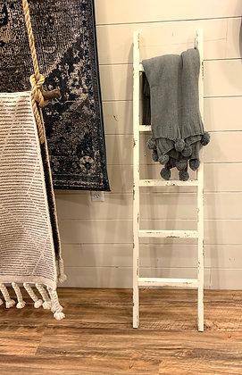 White Distressed Ladder