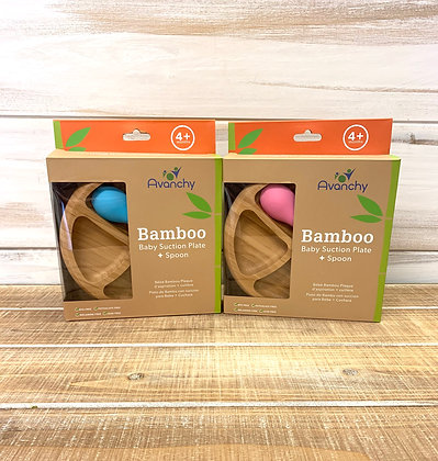 Bamboo Suction Plate & Spoon