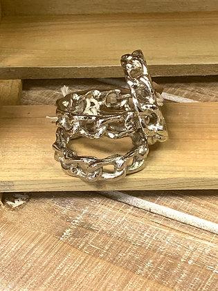 Silver Links Napkin Ring