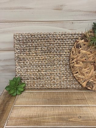 White Washed Woven Hyacinth Placemat