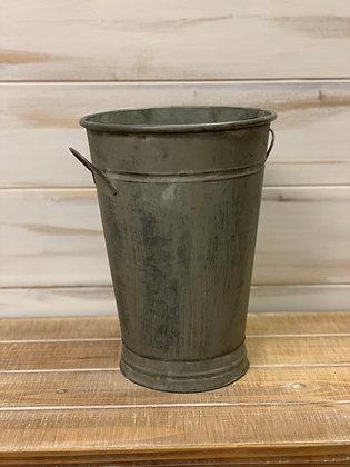 Tin Bucket Vase