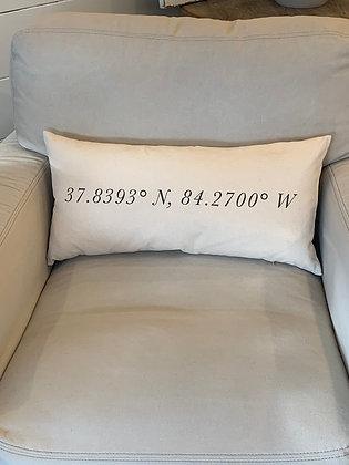 Murray KY coordinates lumbar pillow