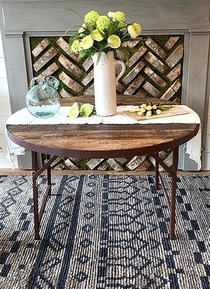 "48"" Wood/Metal Folding Dining Table"
