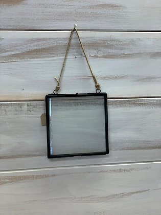 """Glass Hanging Frame 6"""" square"""
