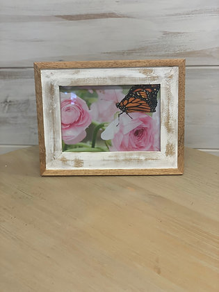 Wood & White Washed Frame