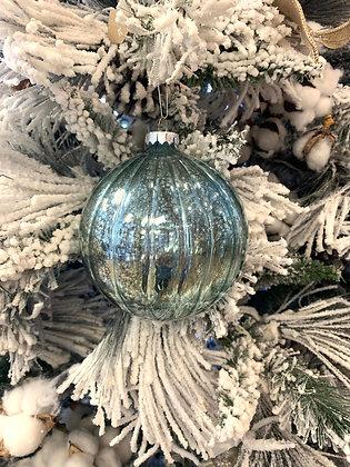 Blue Mercury Glass Ornament