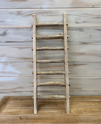 Small Rustic White Washed Ladder