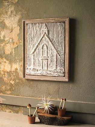 Pressed Metal Church Wall Decor