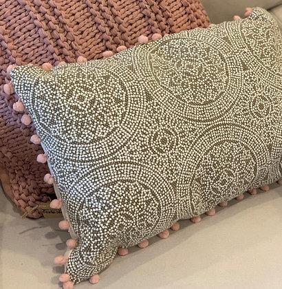 Magnolia Home pom pom trimmed lumbar pillow