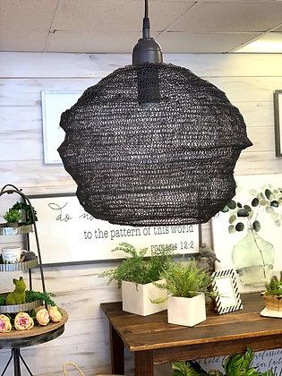 Black wire mesh light