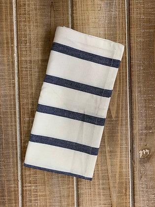 Navy & White Stripe Napkin