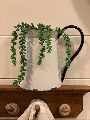 Half pitcher wall planter