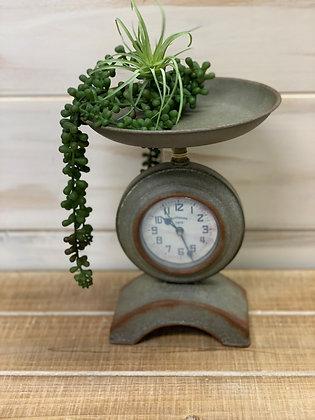 Tin Scale Clock