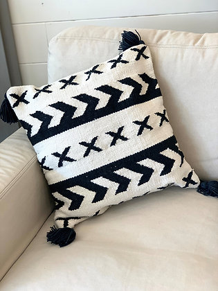 "18"" square Magnolia Home pillow"