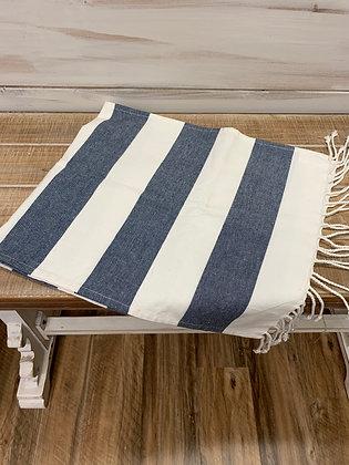 Striped Tasseled Runner