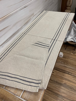 Linen with Navy Stripe