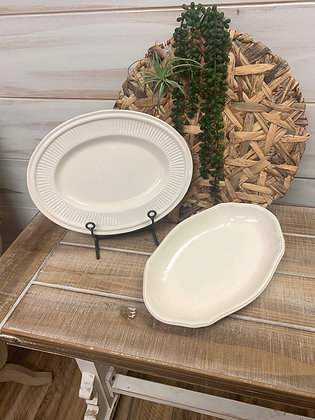Angular Oval Platter