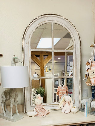 """47"""" Distressed Arched Mirror"""