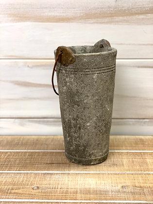 Concrete Bucket Vase