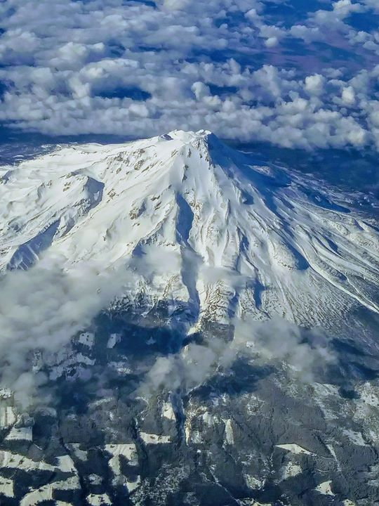 Flying over Mt. Shasta