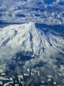 Flying over Mt. Shasta