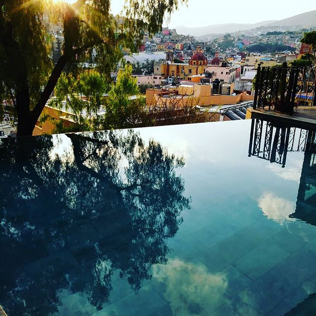 Rooftop pool, Guanajuato City