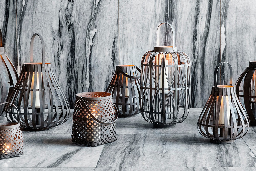 Bamboo Lanterns by Broste Copenhagen, available from Amara