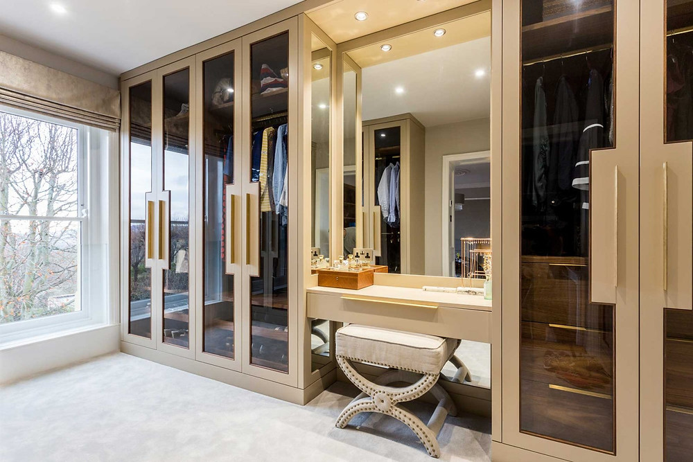 Sleek, Contemporary Dressing Room by Bath Bespoke