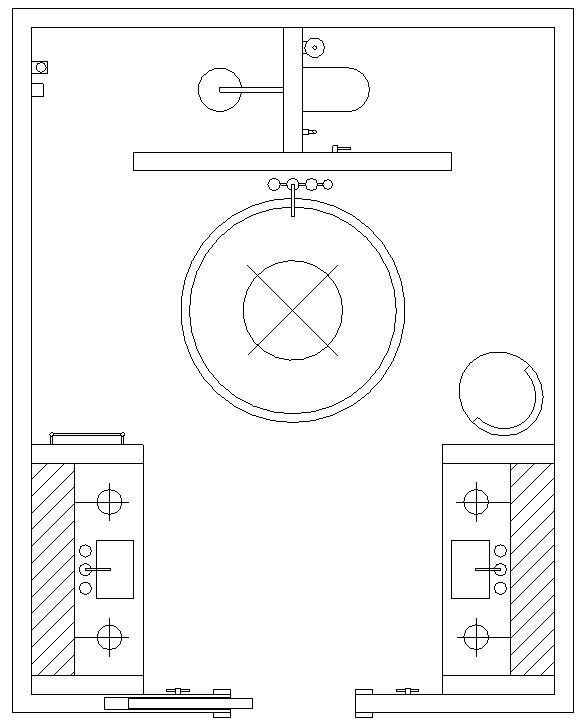 Floor Plan for Luxury Bathroom. Interior Design by Vesta Design